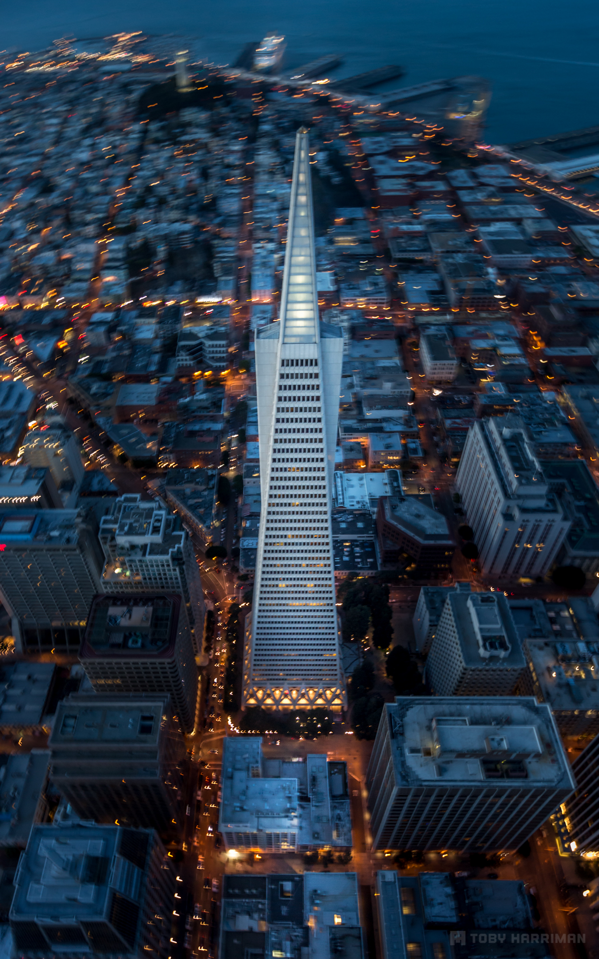 Flying By Transamerica Pyramid