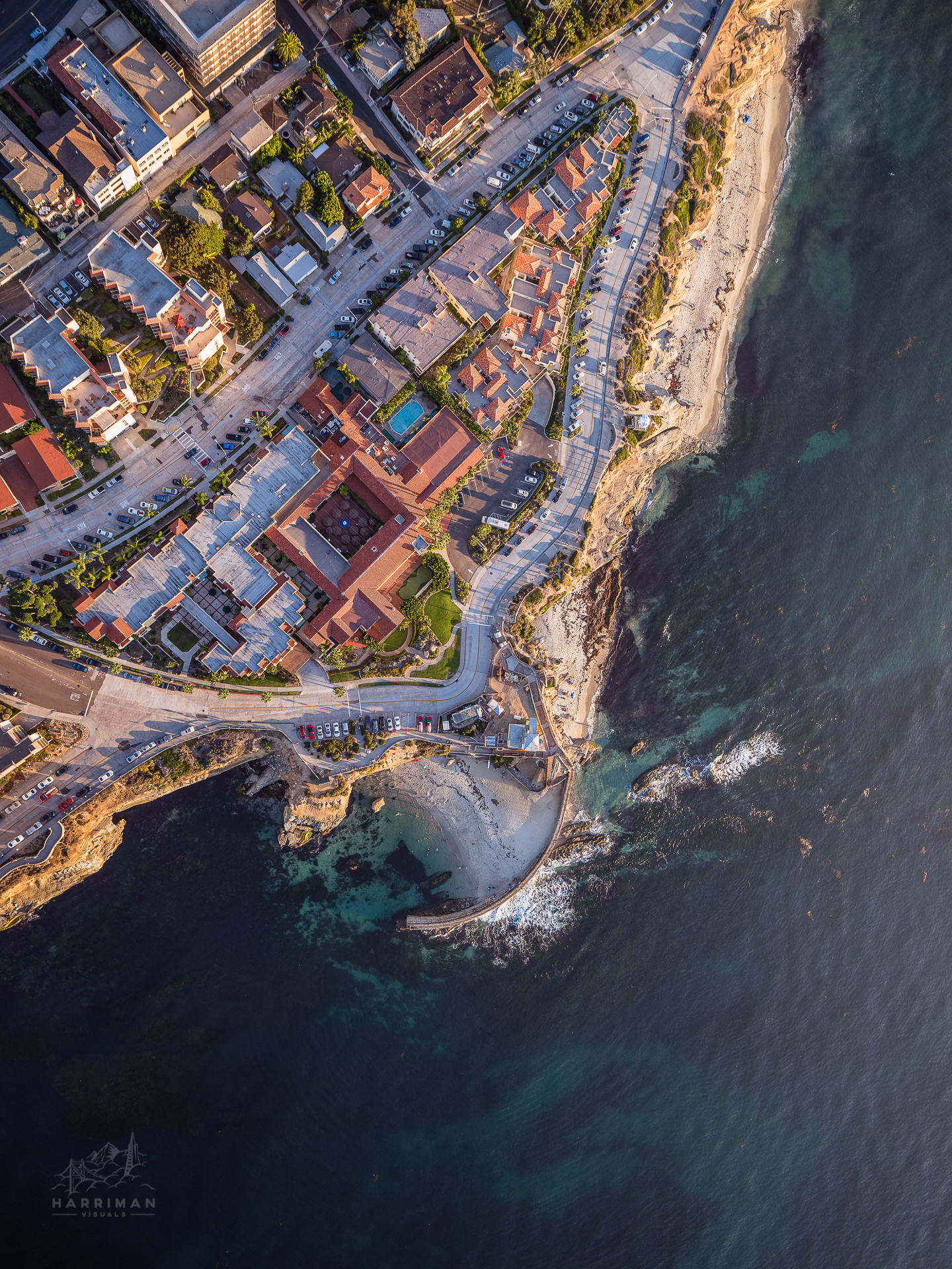 Aerial La Jolla Coves