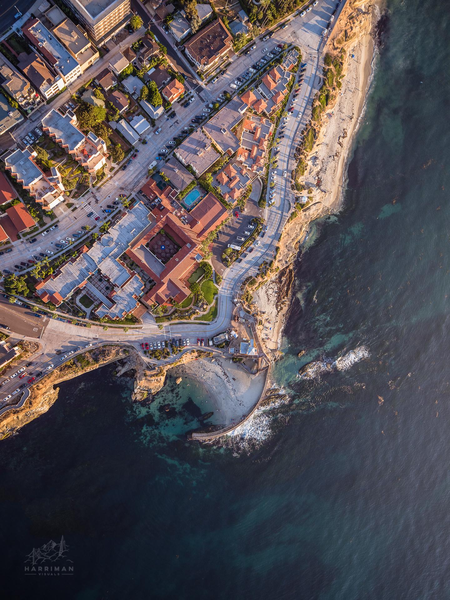 Aerial La Jolla Coves