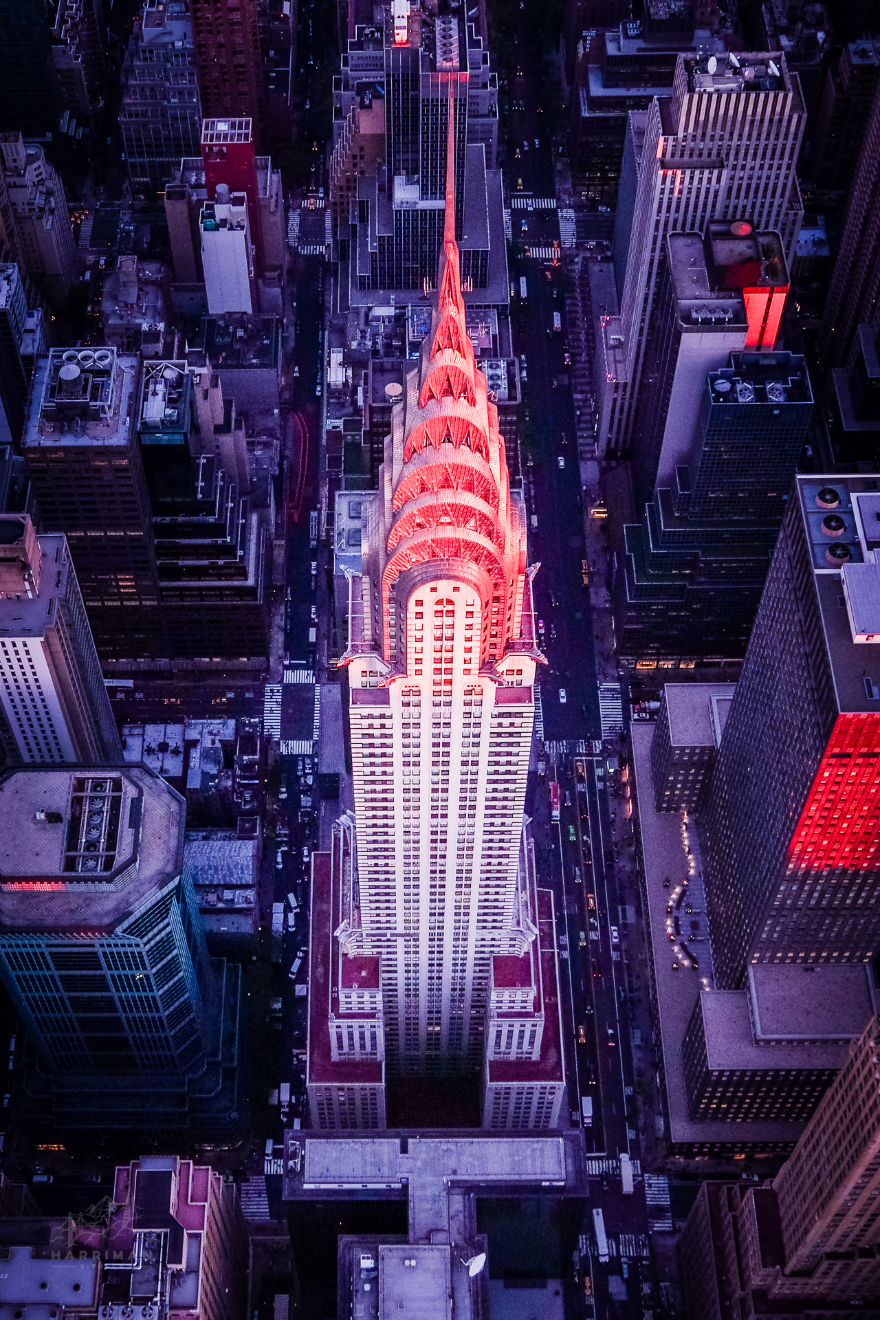 Chrysler Building Aerial Sunset