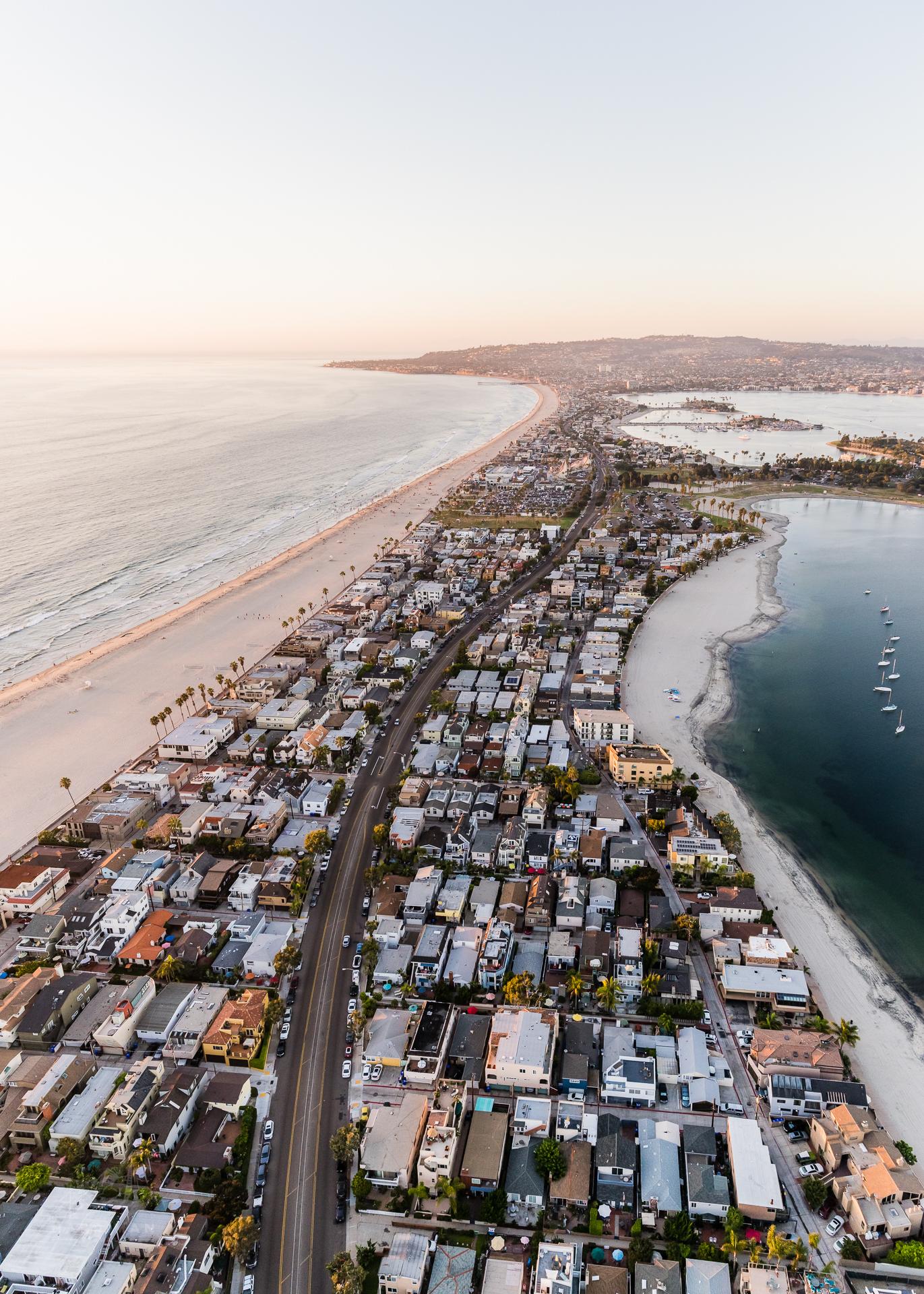 Mission Bay San Diego Aerial