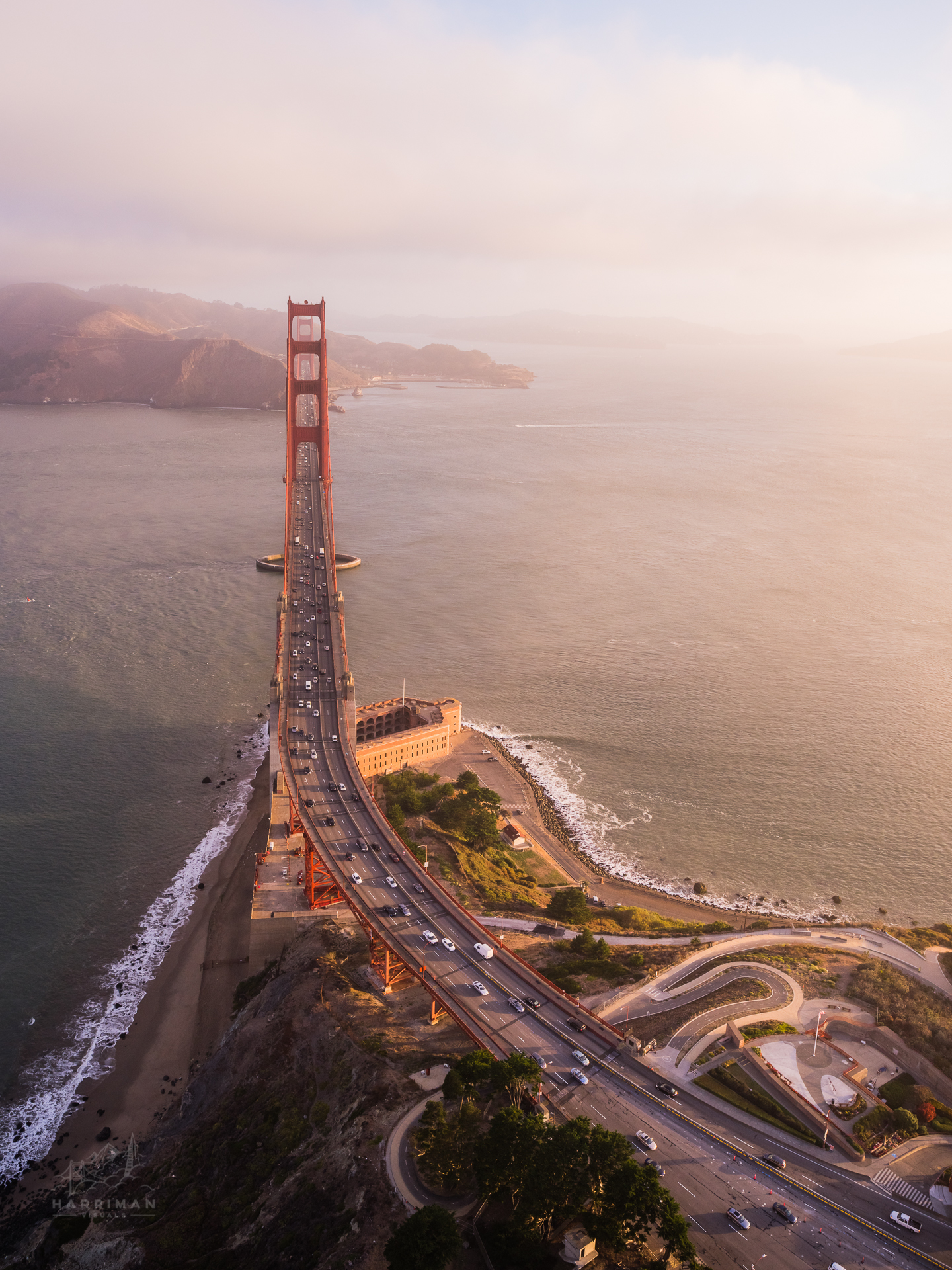 Morning Light - Golden Gate Birdge Aerial
