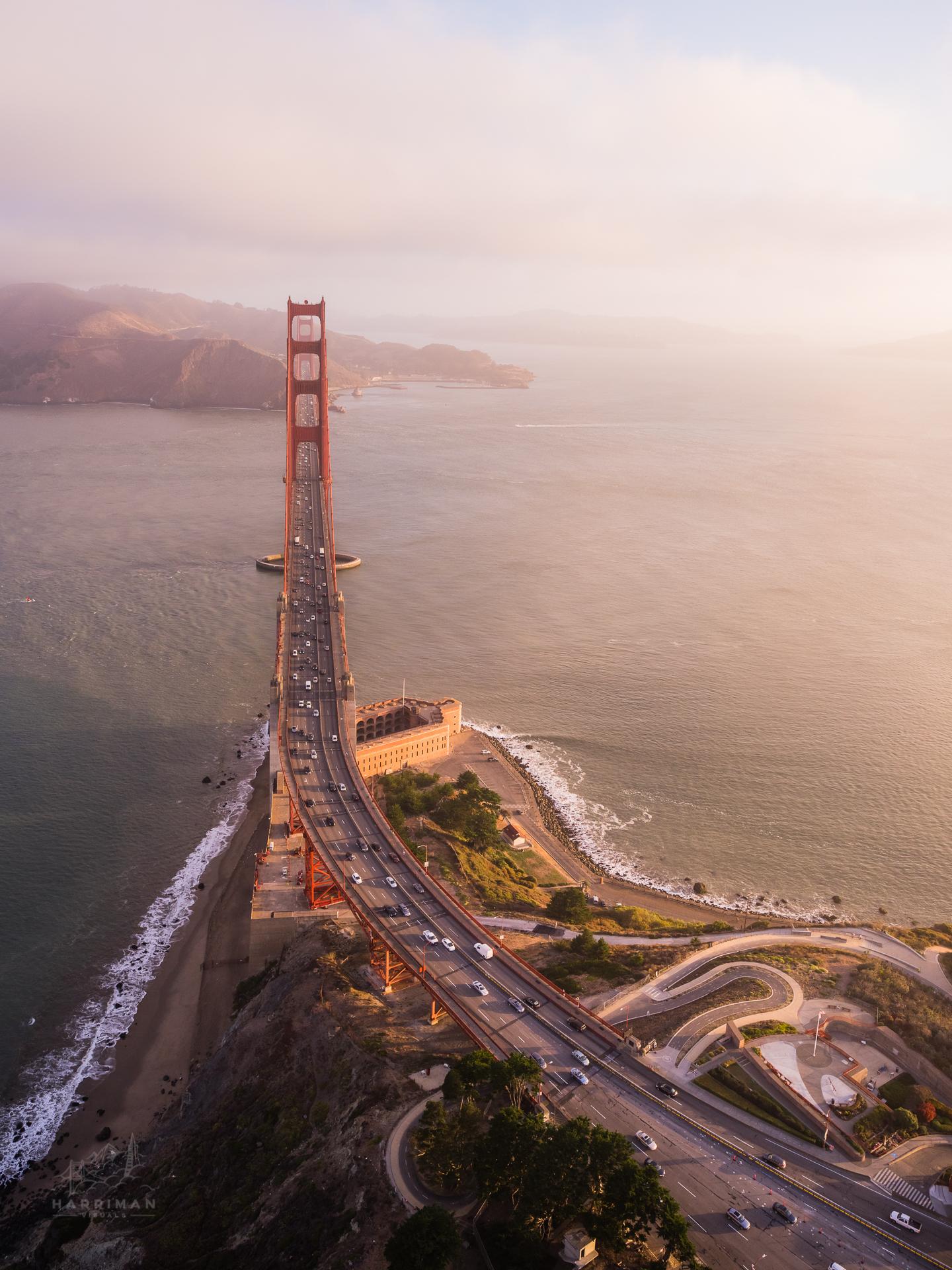 Morning Light - Golden Gate Birdge Aerial