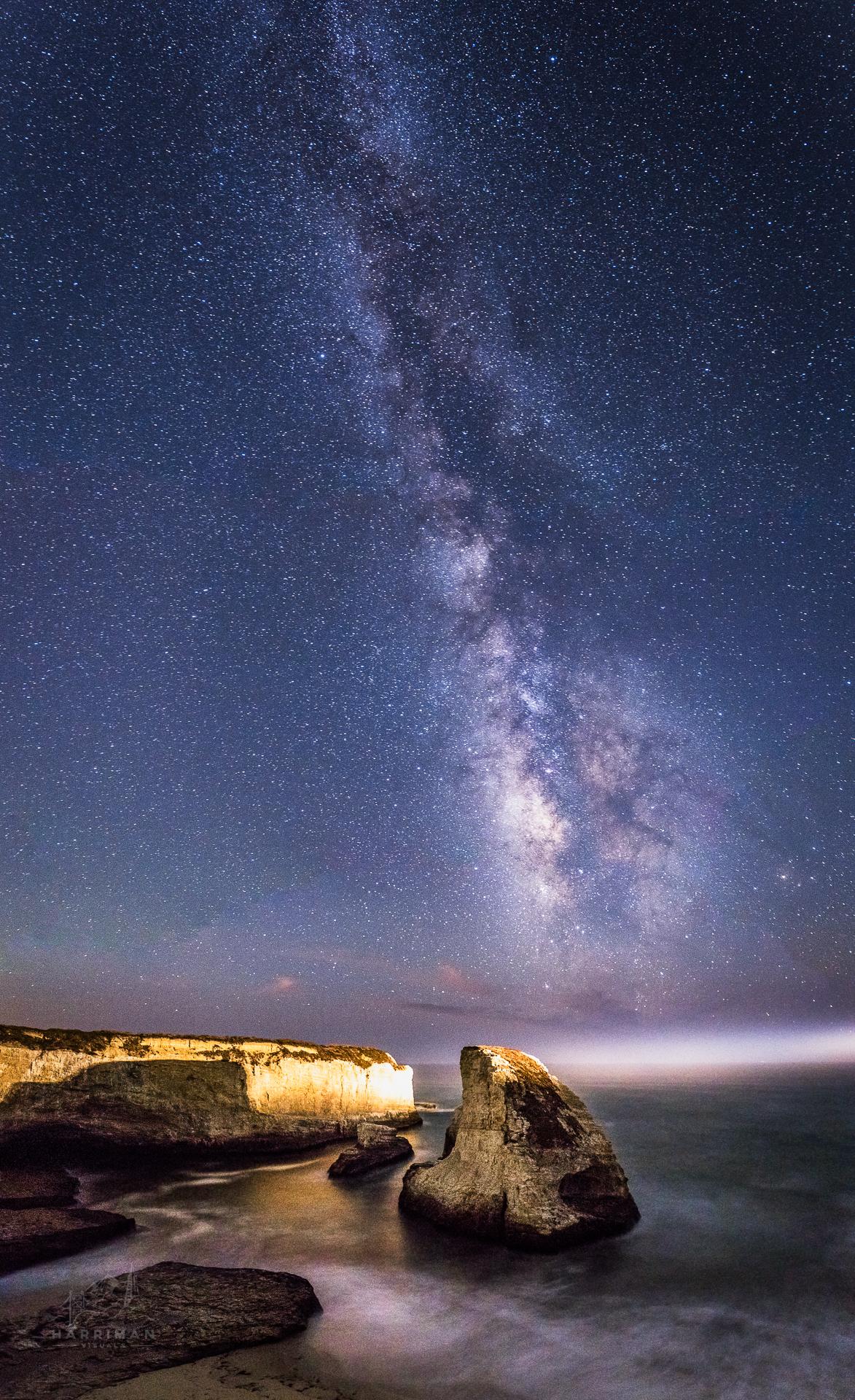 Shark Fin Cove Milky Way