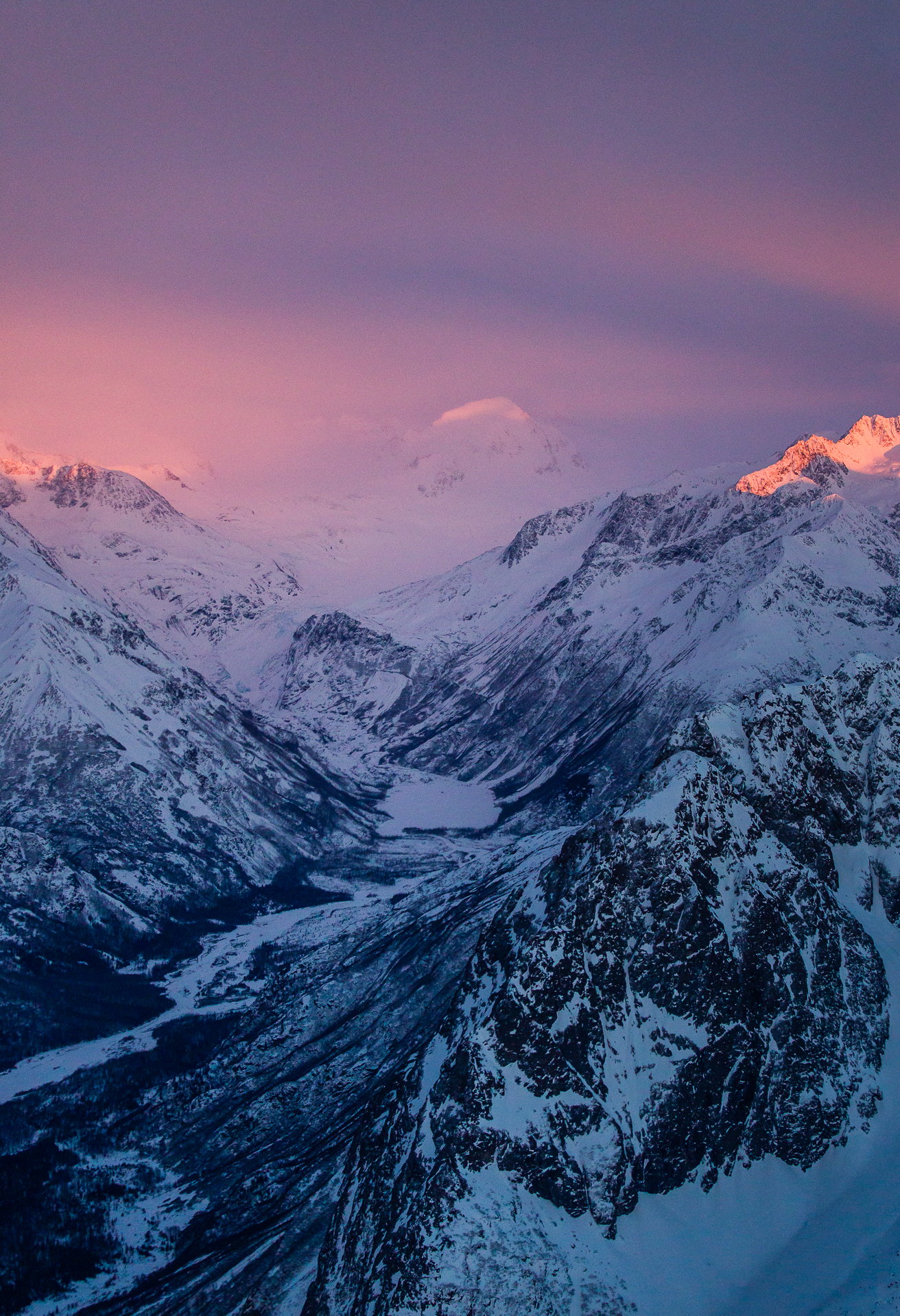 Eagle River Glacier Aerial